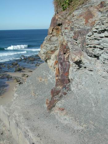 Pacific Ocean from Newcastle, New South Wales and remants of ancient Panthalassa