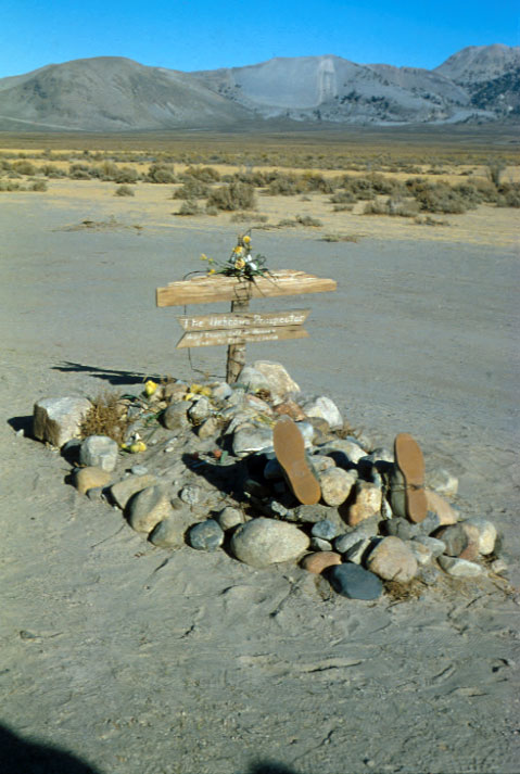 grave of unknown prospector near mono craters, eastern California